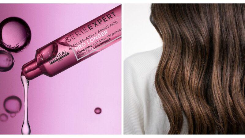 kosmetyki wzmacniające długie włosy, serum loreal pro longer do włosów, serum do włosów