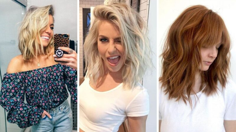 krótkie falowane włosy, beach waves short hair