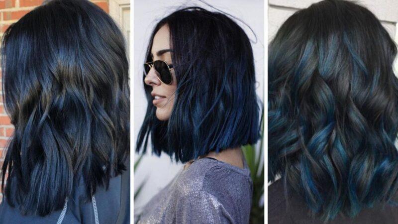 niebieskie włosy, niebieski kolor włosów
