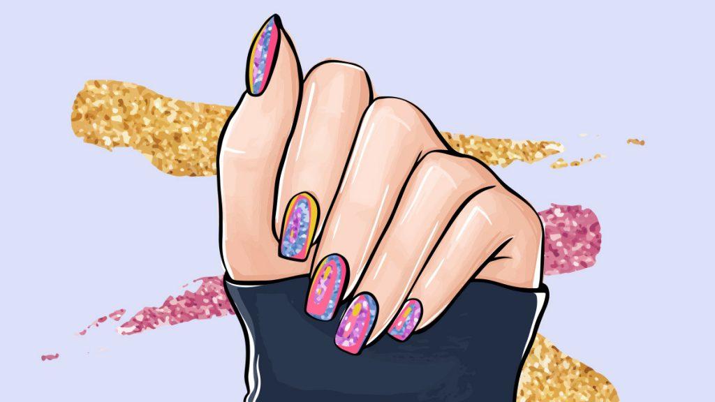 jak nakładać folię na paznokcie, jak nakładać folię transferową