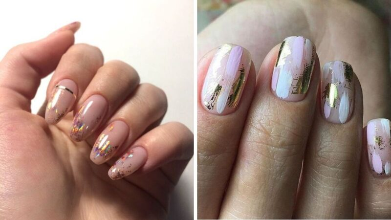 piękne paznokcie, pomysły na manicure hybrydowy
