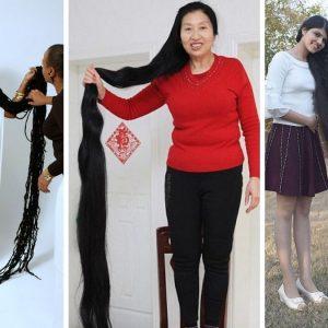 najdłuższe włosy świata, najdłuższe włosy rekord guinessa, asha mandela, nilashi patel, xie quiping
