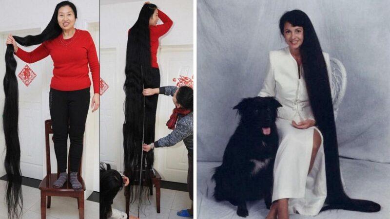 rekord guinessa długośc włosów, xie quiping
