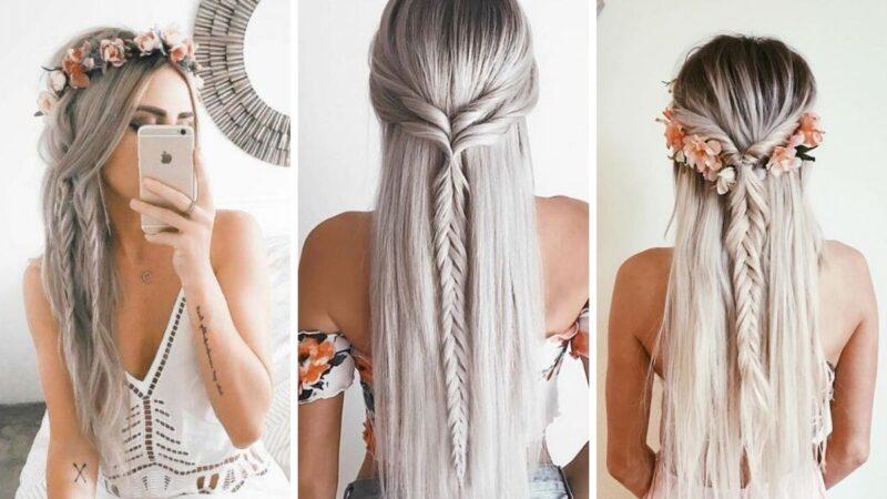 zaplecione włosy, warkocze, warkocze na lato