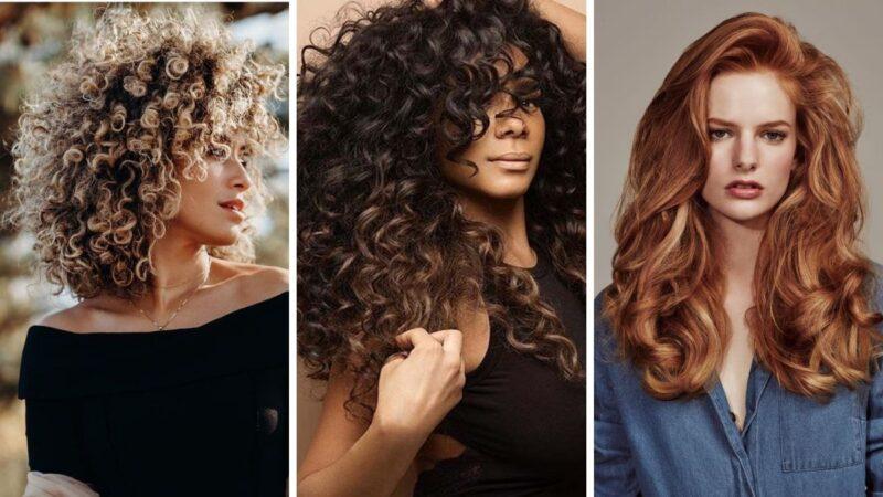 loki na włosach, kręcone włosy, voluminous curls