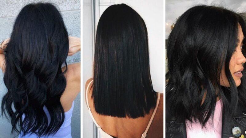 czarne włosy, czarny kolor włosów