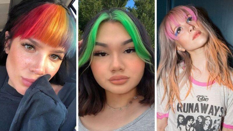 kolorowa grzywka, tęczowa grzywka, rainbow bangs