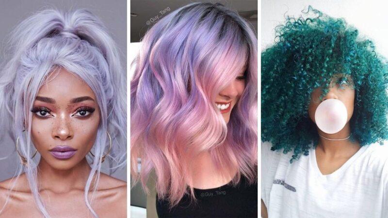 kolorowe włosy, pastelowe włosy