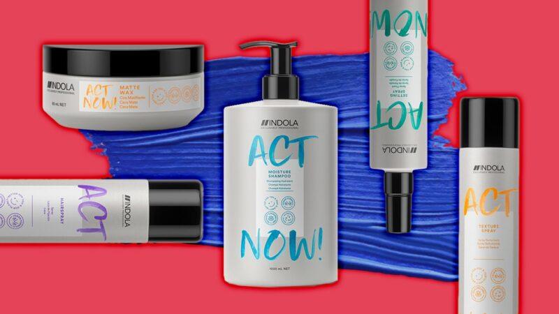 kosmetyki wegańskei indola act now, nowe kosmetyki indola, wegańskie kosmetyki do włosów