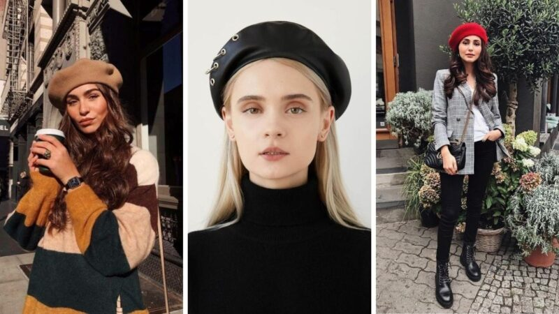 fryzury z beretem, jak nosić beret