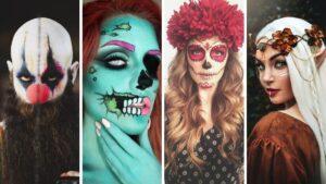 fryzury na halloween, makijaż na halloween, halloween 2020
