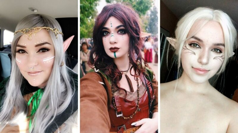 charakteryzacja na elfa, przebranie elfia wróżka