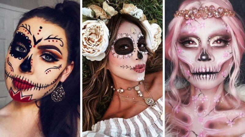 sugar skull, pomysły na halloween