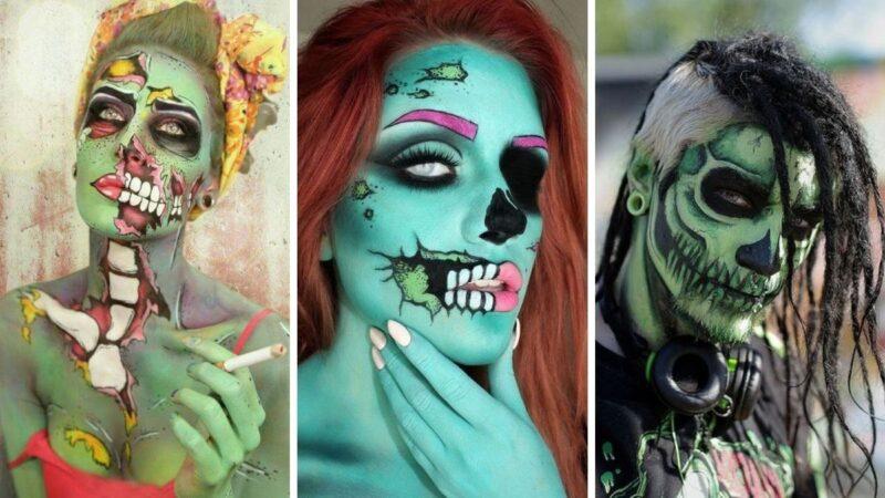makijaż zombie, charakteryzacja zombie, zombie na halloween