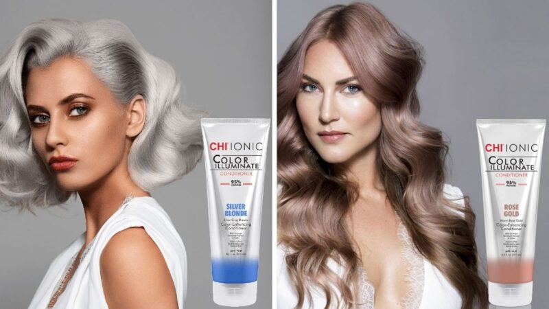 chi illuminate na włosach