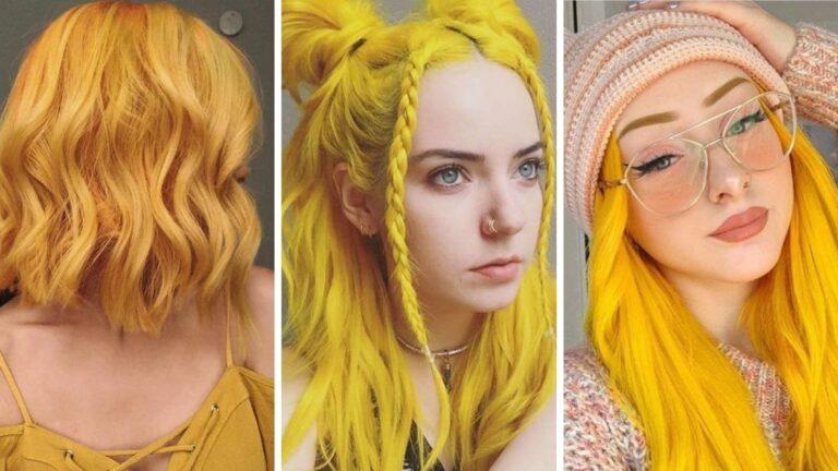 żółte włosy, kolorowe włosy, pastelowe włosy, alternatywny kolor włosów