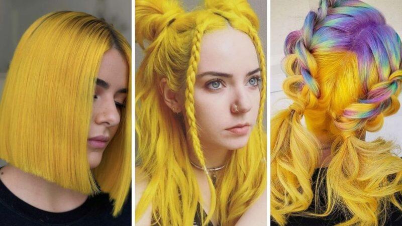 illuminate yellow, kolory roku 2021, kolory roku pantone, żółte włosy