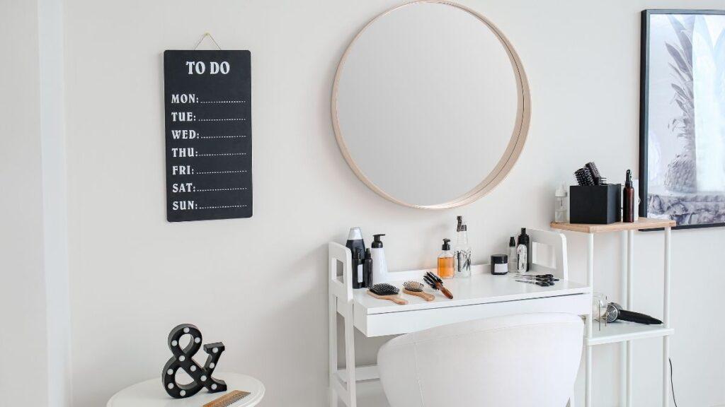 lustra w salonie fryzjerskim