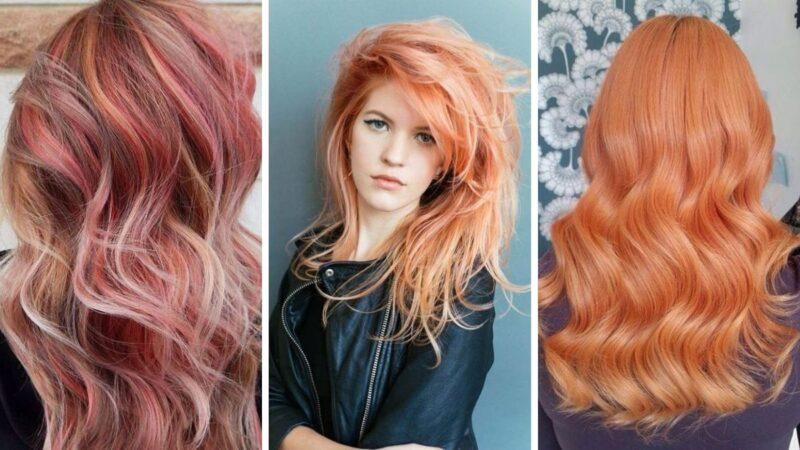 rude włosy, truskawkowe włosy, pastelowe włosy