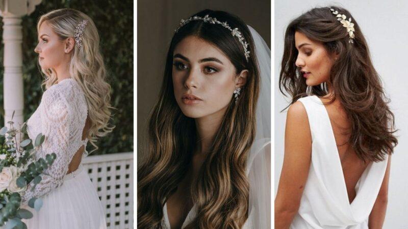 fryzury na wesele 2021, fryzury dla panny młodej, fryzury na ślub, wesele 2021, fryzury na wesele długie włosy
