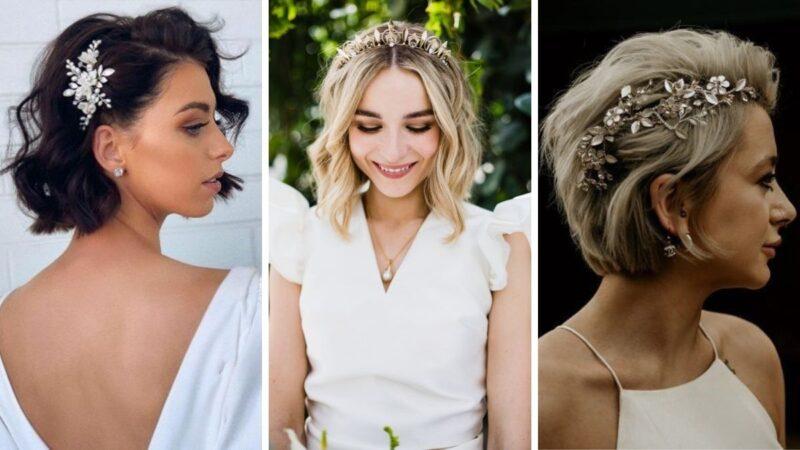 fryzury na wesele krótkie włosy, fryzury na ślub krótkie włosy, fryzury z krótkich włosów dla panny młodej