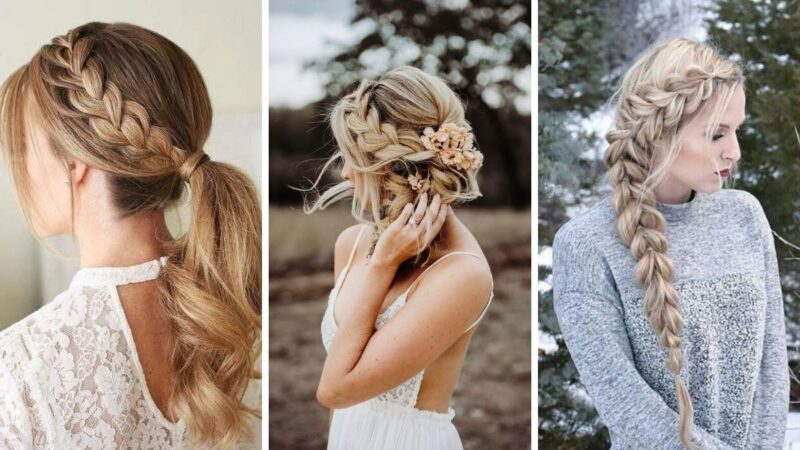 fryzury na wesele z długich włosów, warkocz fryzura na wesele, fryzury weselne 2021, fryzury ślubne 2021