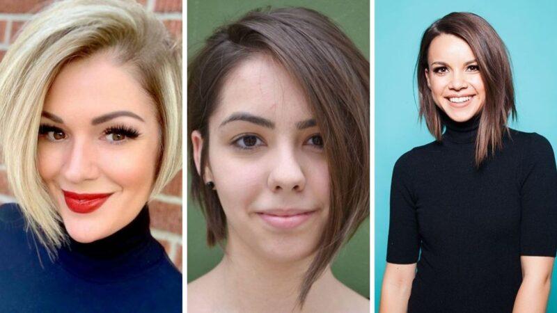 asymetryczny boob, asymetrial bob, bob asymetryczny, krótkie włosy fryzury 2021