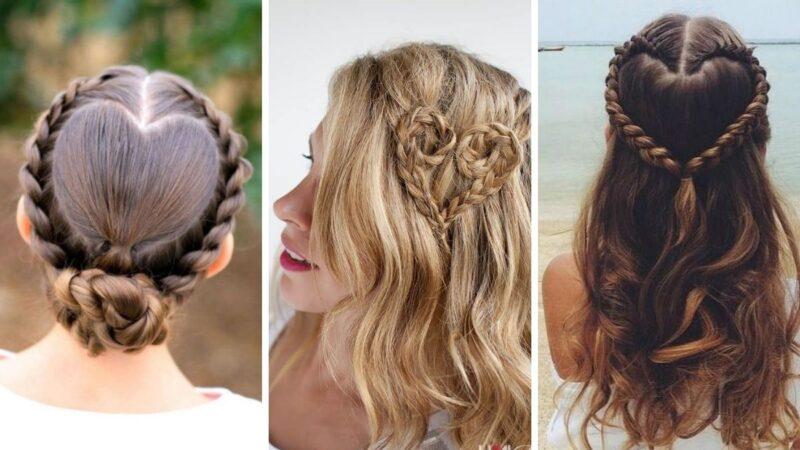 fryzury z motywem serca, serce z włosów, serduszko z włosów