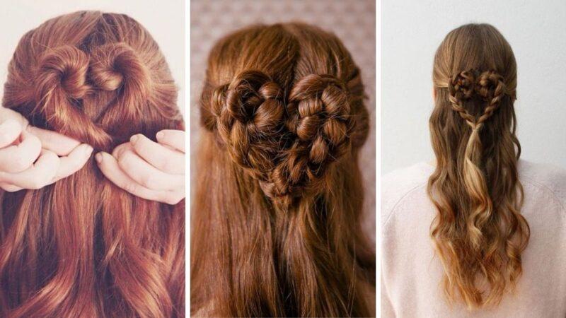 serduszka z włosów, serca z włosów, fryzury serce, fryzury dla zakochanych