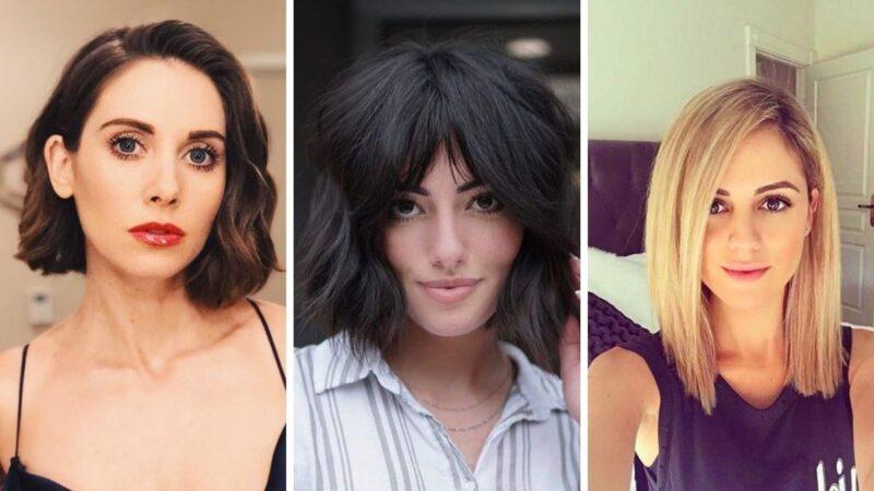 chin lenght hairstyles, włosy średnia długość