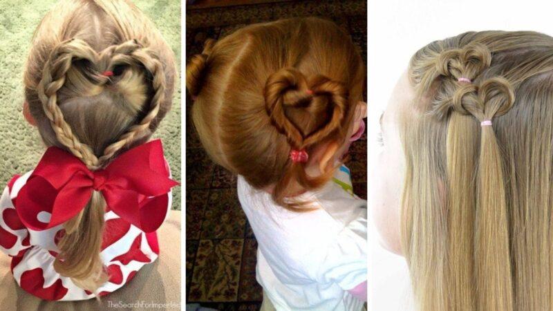 Fryzury dla dziewczynek na walentynki