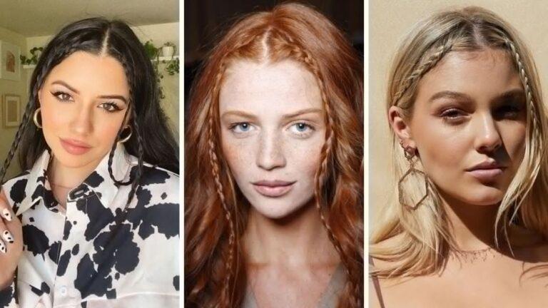 baby braid, warkoczyki z grzywki, warkoczyki, trendy wiosna 2021, modne fryzury na wiosnę