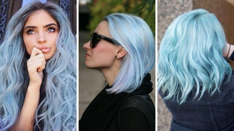cotton candy blue hair, niebieskie włosy, błękitne włosy
