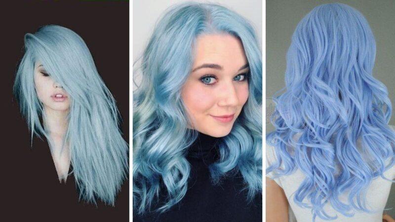 cotton candy blue hair, niebieskie włosy, błękitne włosy, kolorowe wlosy, pastelowe włosy