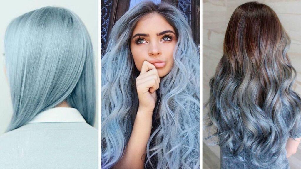 niebieskie włosy, błękitne włosy, cotton candy blue hair, włosy w kolorze waty cukrowej