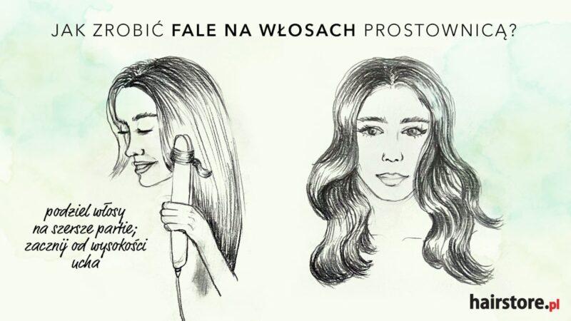 jak zrobić fale na włosach prostownicą
