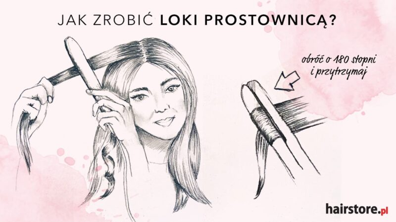 jak kręcić włosy prostownicą, jak robić loki prostownicą