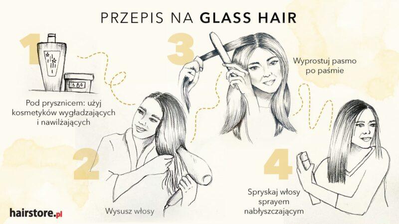 jak uzyskać efekt glass hair