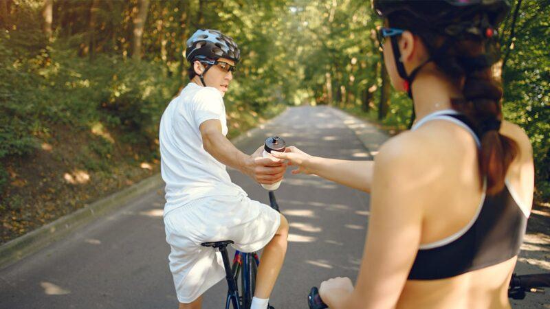 wygodna fryzura na rower