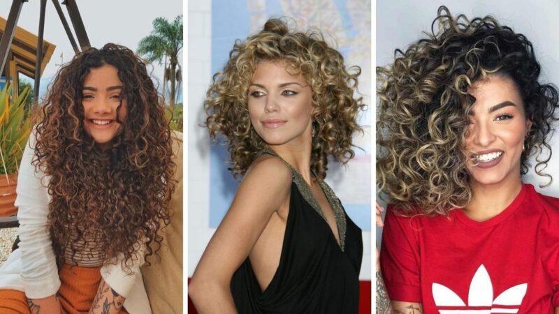 curlyalge, kręcone włosy, balejaż, balayage