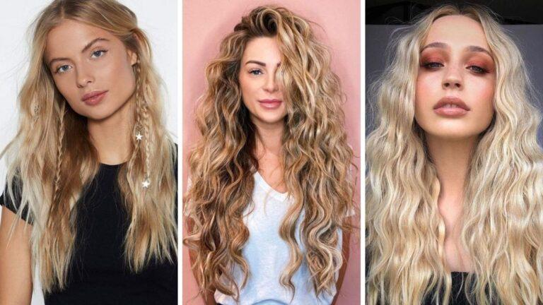 fale na włosach, modne fryzury, fryzury na lato, mermaid waves, syrenie fale