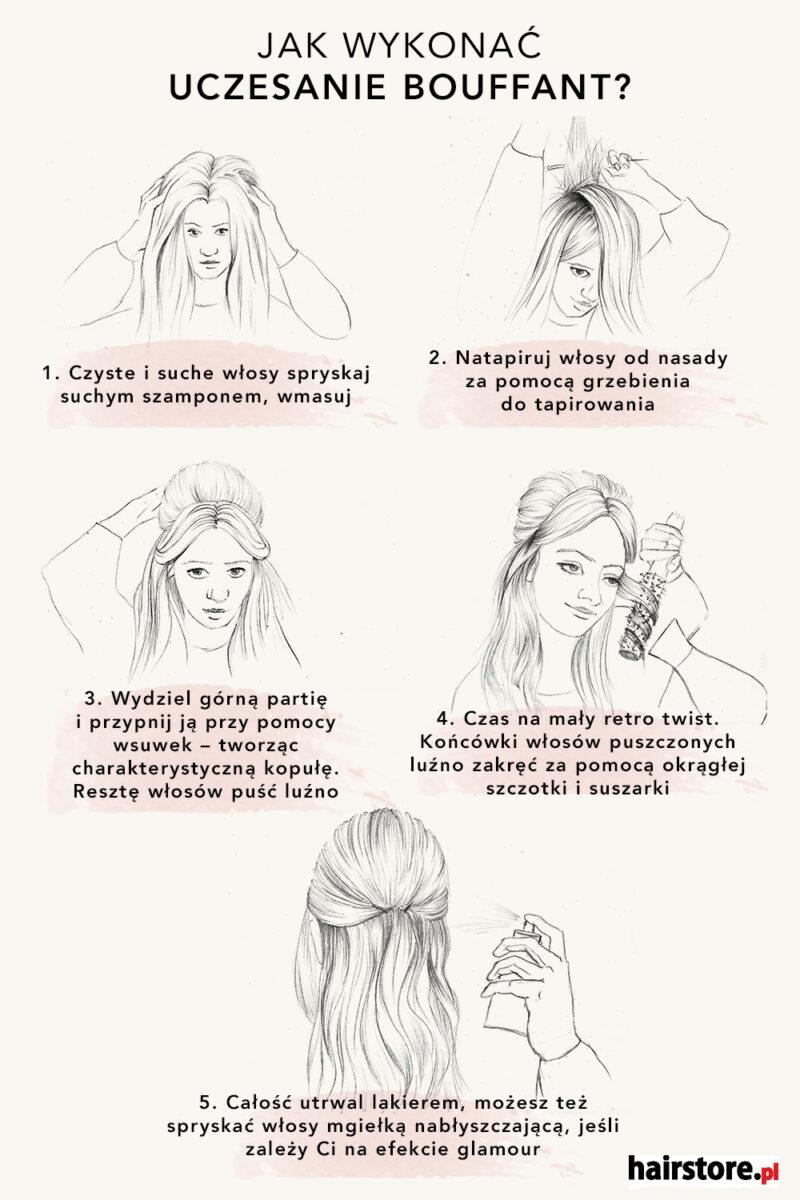 jak zrobić fryzurę bouffant
