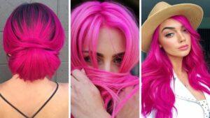 różowe włosy, magenta hair