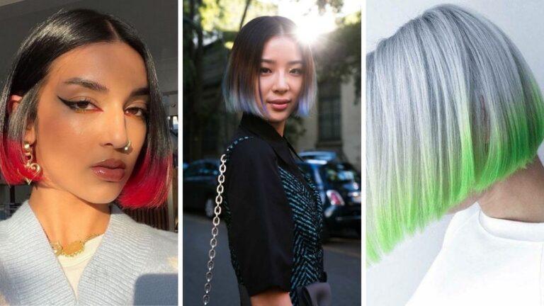 kolorowe włosy, modne włosy na jesień, modne włosy na zimę
