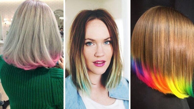 włosy z kolorowymi końcówkami