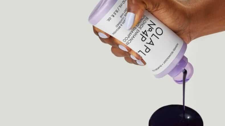 fioletowy szampon olaplex no. 4p do blondu
