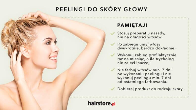 zasady stosowania peelingu do skóry głowy