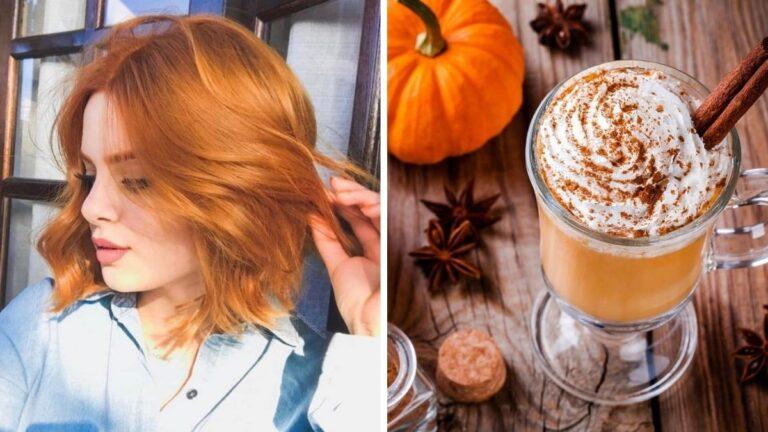 włosy w kolorze pumpkin spice, rude włosy