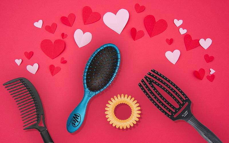 Prezenty na Walentynki dla Niej - szczotki do włosów