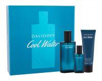 Davidoff Cool Water, zestaw: Edt 75 ml + Żel pod prysznic 50 ml + Edt 15 ml (M)